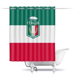 """Шторы в ванную """"Италия регби"""" - италия, спорт, регби, кубок шести наций"""