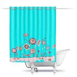 """Шторы в ванную """"цветы"""" - цветочки, цветы"""