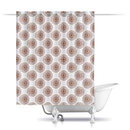 """Шторы в ванную """"Орнамент в стиле росписи хной"""" - орнамент, мандала, этнический, индийский, мехенди"""