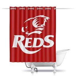 """Шторы в ванную """"Редс регби"""" - спорт, регби, австралия, супер регби"""