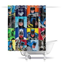 """Шторы в ванную """"Batman """" - комиксы, бэтмен, фэнтези"""