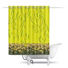 """Шторы в ванную """"Фантазия."""" - цветы, тюльпаны, тюльпан, цветочный рай, поле тюльпанов"""