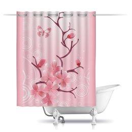 """Шторы в ванную """"Сакура"""" - цветы, сакура"""