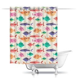 """Шторы в ванную """"Рыбки"""" - море, рыбки, рыба"""