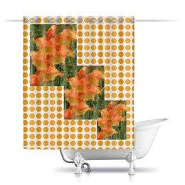 """Шторы в ванную """"Летний день."""" - лето, цветы, цветок, радость, гладиолус"""
