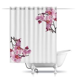 """Шторы в ванную """"Орхидея"""" - арт, стиль, рисунок"""