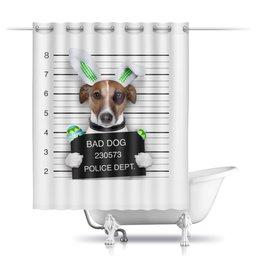 """Шторы в ванную """"собака"""" - собака"""