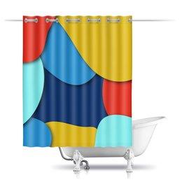"""Шторы в ванную """"Разноцветная абстракция"""" - узор, стиль, рисунок, абстрактный, разноцвтный"""