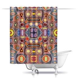 """Шторы в ванную """"гравитация"""" - картина, абстракция, искусство, живопись, яркие цвета"""