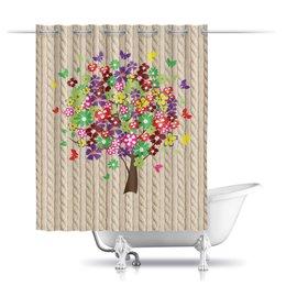 """Шторы в ванную """"дерево"""" - дерево, красиво, цветы, бабочки"""