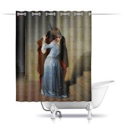 """Шторы в ванную """"Поцелуй (Франческо Айец)"""" - картина, поцелуй, живопись, айец"""