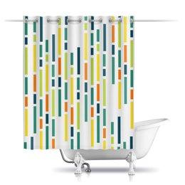 """Шторы в ванную """"Абстрактная"""" - узор, стиль, рисунок, абстракция, абстрактный"""