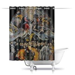 """Шторы в ванную """"Погребение графа Оргаса (Эль Греко)"""" - картина, живопись, эль греко"""