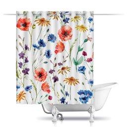 """Шторы в ванную """"Полевые цветы"""" - цветы, цветок, нежный цветок"""