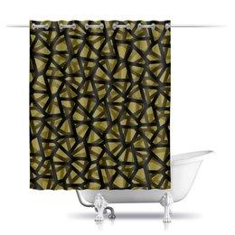 """Шторы в ванную """"Empty"""" - пятиугольники, камфуляж, стеллс"""