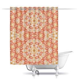 """Шторы в ванную """"Нежный."""" - арт, узор, абстракция, фигуры, текстура"""