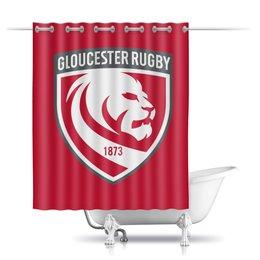 """Шторы в ванную """"Глостер регби"""" - спорт, регби, англия, регби стиль"""