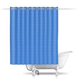 """Шторы в ванную """"Голубые узоры для ванной"""" - узор, орнамент, этнический, индийский, пейсли"""