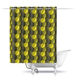 """Шторы в ванную """"Rumpled"""" - узор, заполнение, пятиугольники"""