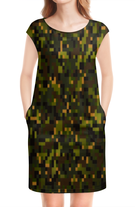 Платье без рукавов Printio Камуфляж лесной жк лесной городок одинцово купить квартиру