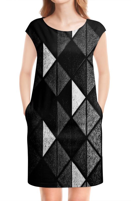 цена Платье без рукавов Printio Черно-белые фигуры онлайн в 2017 году