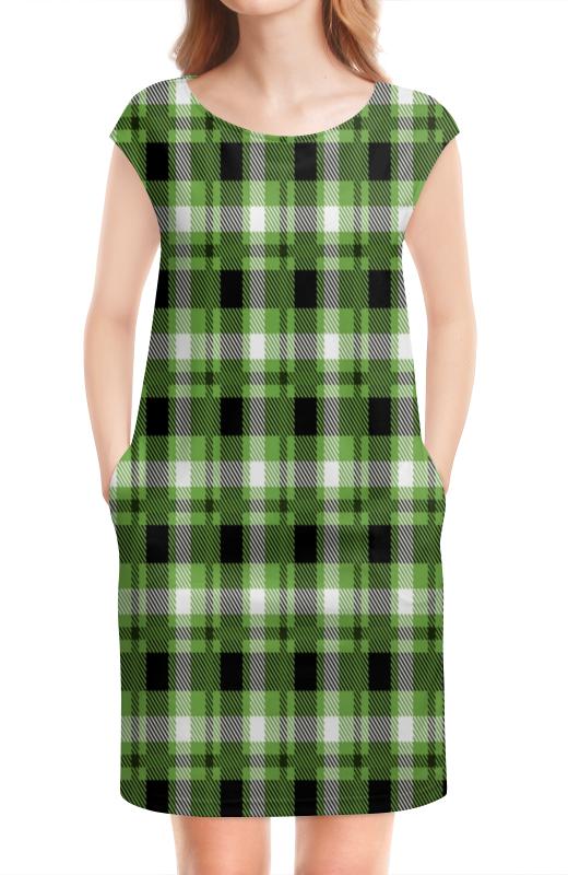 колыбель качалка beeangel зеленая клетка Платье без рукавов Printio Зеленая клетка