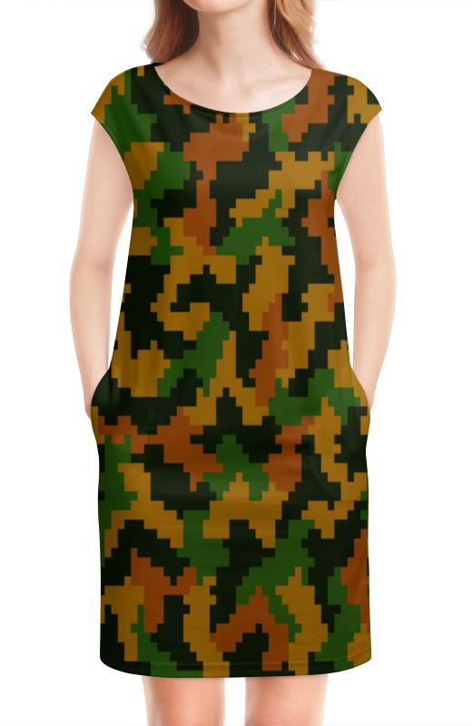 Платье без рукавов Printio Камуфляж песочный 3 обнаженный песочный