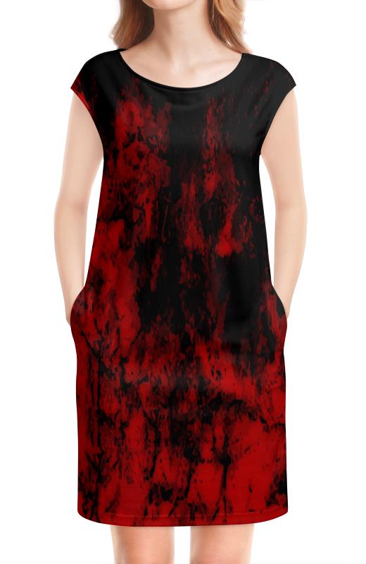цена Платье без рукавов Printio Черно-красный онлайн в 2017 году