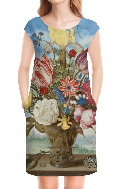 Платье без рукавов Printio Букет цветов на полке (амброзиус босхарт) амброзиус босхарт