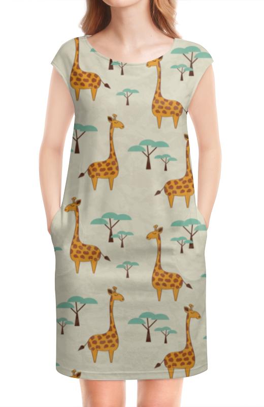Платье без рукавов Printio Жирафы lori фоторамки из гипса жирафы
