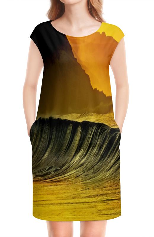 Платье без рукавов Printio Волны моря земельный участок рядом моря ст голубицкой без посредников