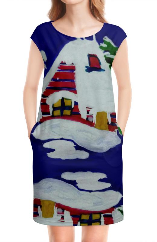 Платье без рукавов Printio Дом в лесу салярогаз печка на отработанном масле в москве