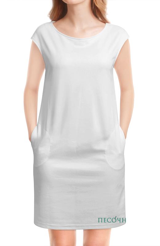 Платье без рукавов Printio Стрейч женская песочня, лого спереди