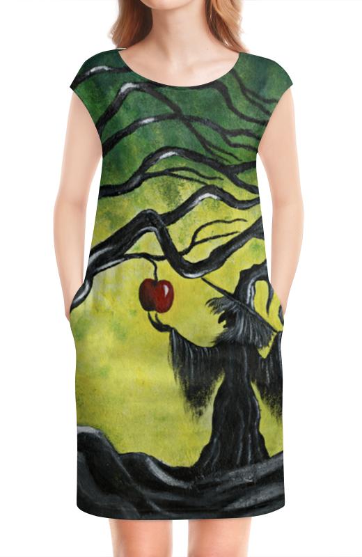 Платье без рукавов Printio Заколдованное яблоко платье для полненьких девушек в спб
