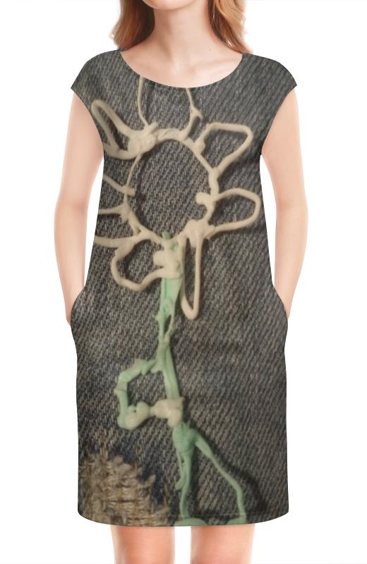 Платье без рукавов Printio Цветочек expetro цветочек зеленый