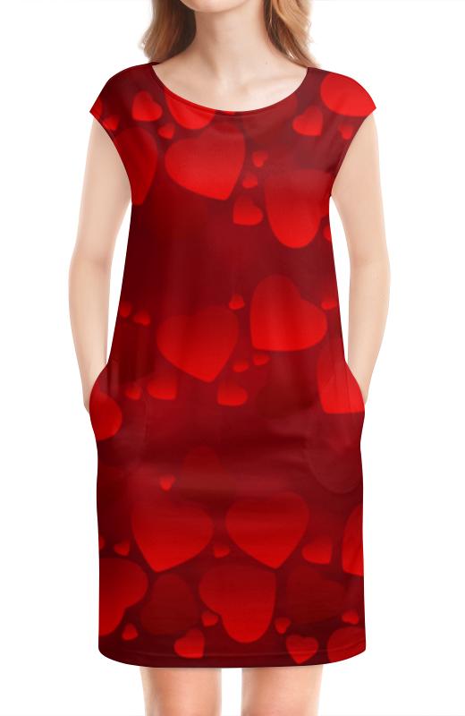 Платье без рукавов Printio День всех влюбленных чартер для всех
