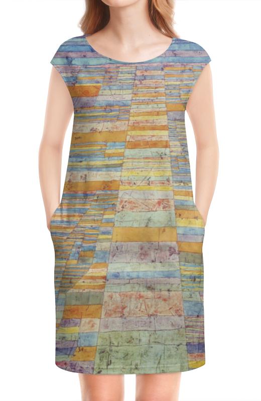 Платье без рукавов Printio Шоссе и переулки (пауль клее)