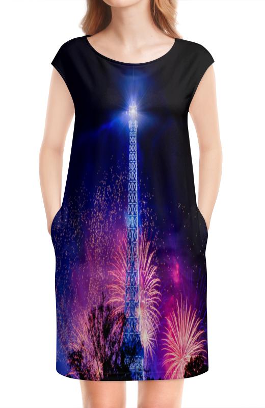 Платье без рукавов Printio Эйфелева башня