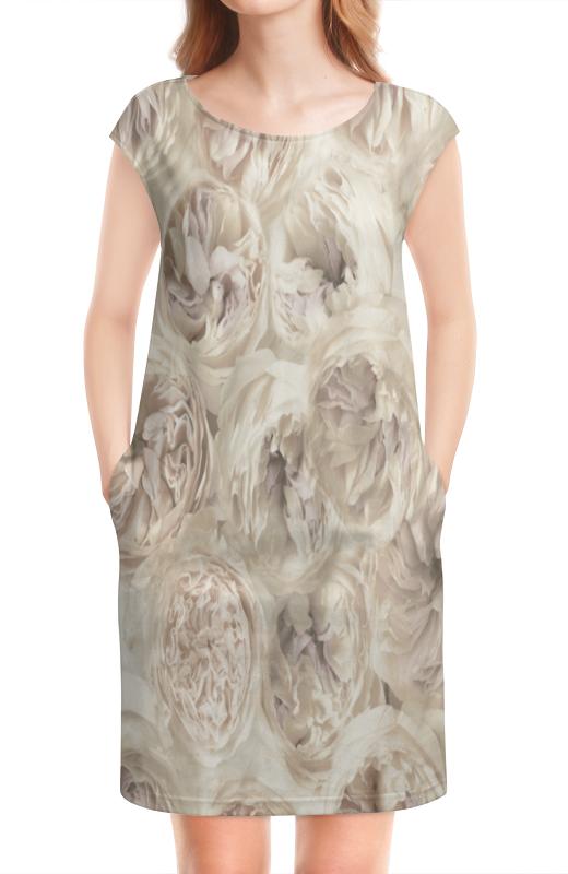 Платье без рукавов Printio Белые цветы платье без рукавов printio цветы