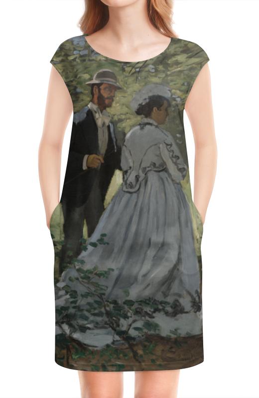Платье без рукавов Printio Базиль и камилла (клод моне)