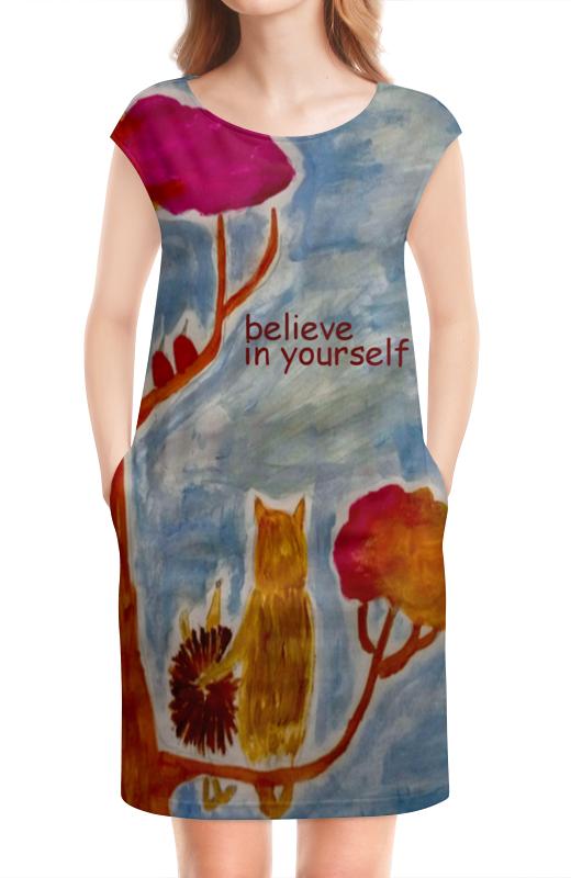 Платье без рукавов Printio Счастье