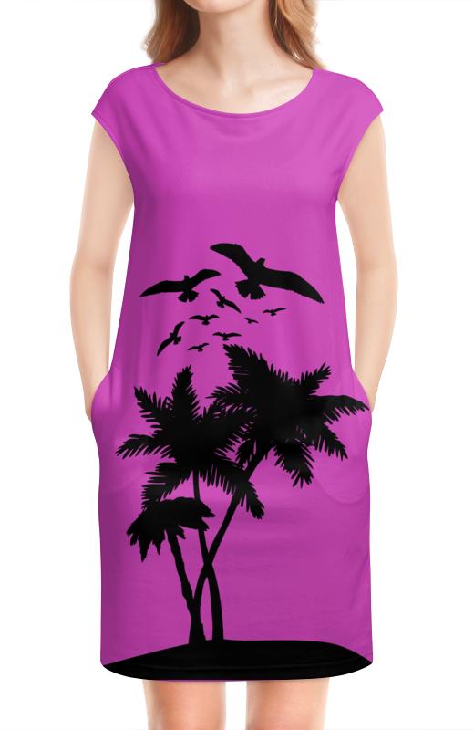 Платье без рукавов Printio Пальмы,чайки,лето,отдых томсон д прогулки по барселоне