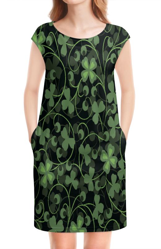 Платье без рукавов Printio Клевер подростки сделать счастливыми наших детей издательство клевер ут 00013696