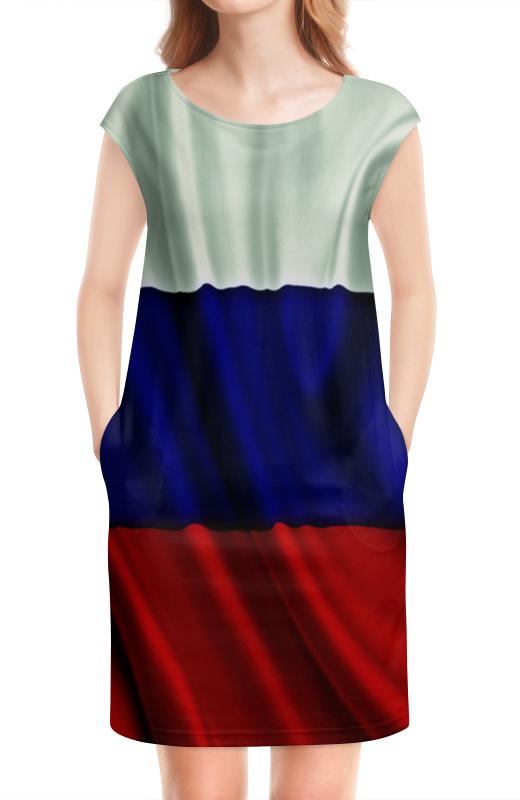 Платье без рукавов Printio Триколор антену триколор в екатеринбурге