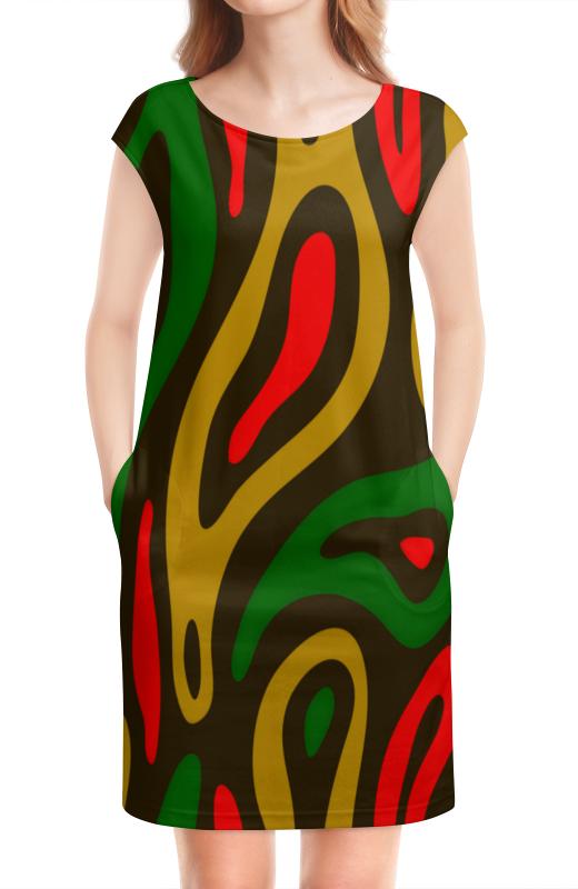 цены на Платье без рукавов Printio Неоновый узор в интернет-магазинах
