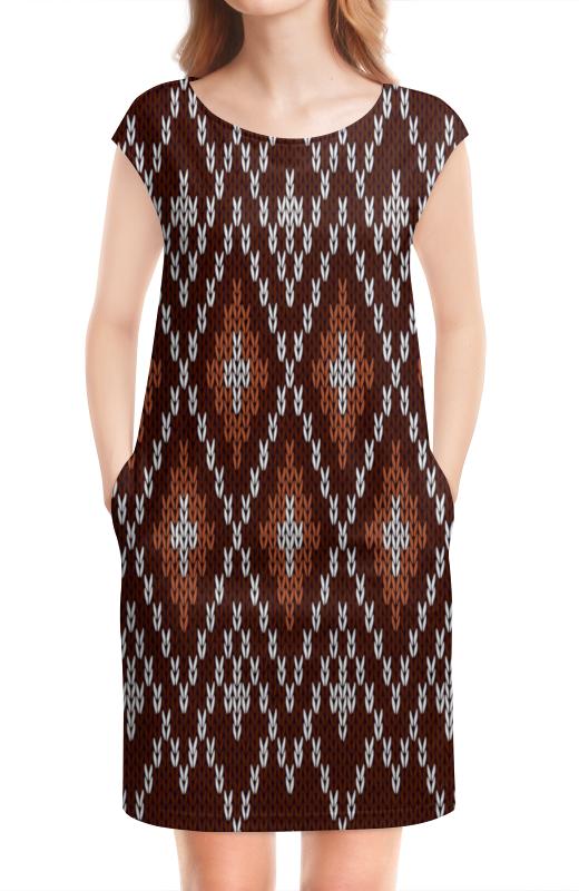 цены на Платье без рукавов Printio Коричневый узор в интернет-магазинах