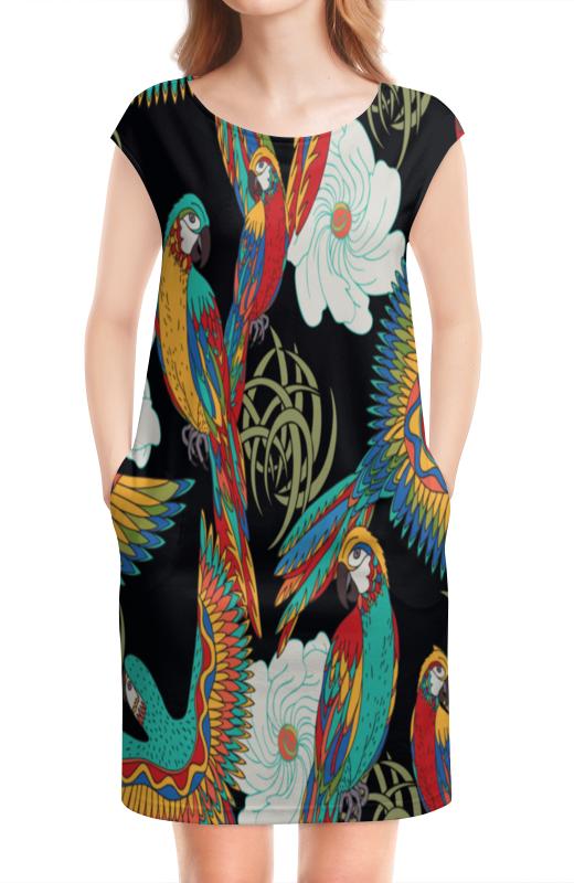 Платье без рукавов Printio Попугаи попугаи розелла фото москва