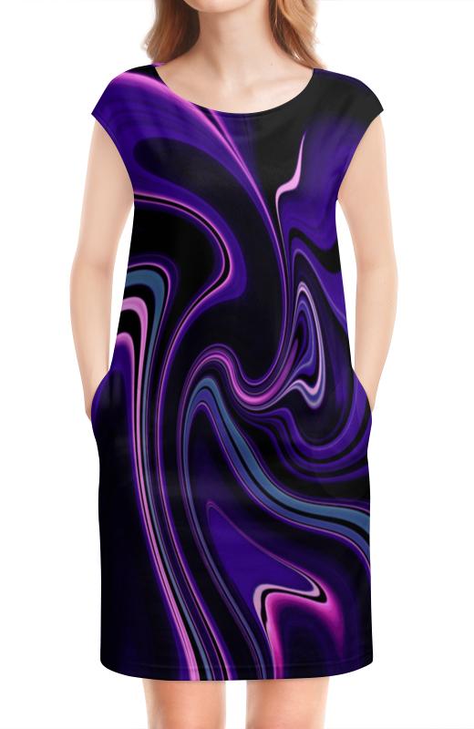 Платье без рукавов Printio Черно-синие краски