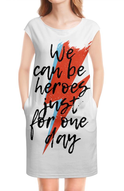 Платье без рукавов Printio Heroes. дэвид боуи футболка классическая printio heroes дэвид боуи