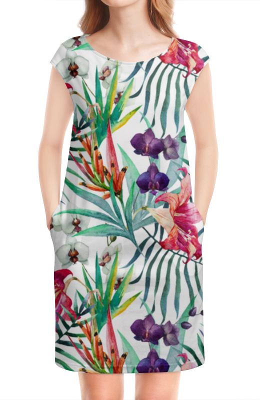 Платье без рукавов Printio Экзотические цветы платье без рукавов printio цветы